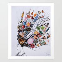 modest mouse Art Prints featuring Modest Mouse  by chelzart