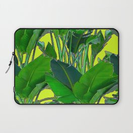 DECORATIVE TROPICAL GREEN FOLIAGE & CHARTREUSE ART Laptop Sleeve