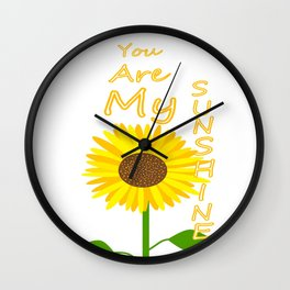 You Light Up My Day Wall Clock
