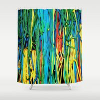 anxiety Shower Curtains featuring Anxiety by Yolanda's Prints