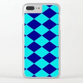Diamond Blocks Clear iPhone Case
