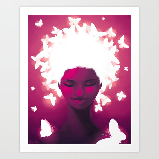 Luminescent Fuchsia Art Print