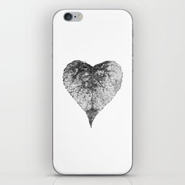 heart b&w iPhone Skin