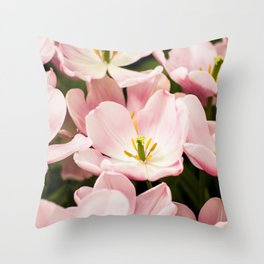Pink Flowers (Color) Throw Pillow