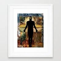 superhero Framed Art Prints featuring Superhero by Cheryl Francis