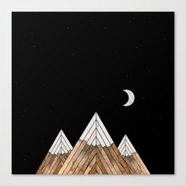 Digital Grain Mountains Canvas Print