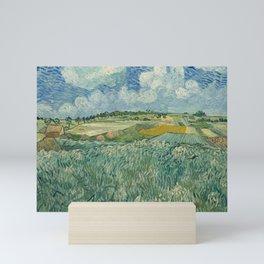 Plain at Auvers with rain clouds Mini Art Print