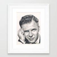 frank sinatra Framed Art Prints featuring Frank Sinatra by Heather Andrewski