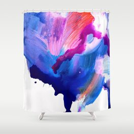 Danbury Abstract Watercolor Painting Shower Curtain