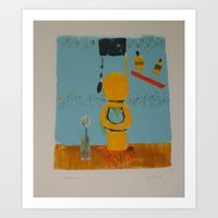 bathroom Art Prints featuring Bathroom by Jenny Baird