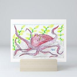 Giant Pacific Octopus Mini Art Print
