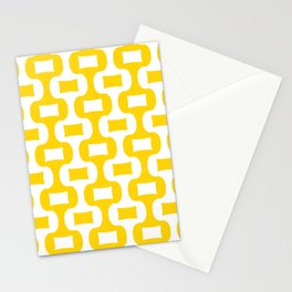 Mid Century Modern Ogee Pattern 342 Yellow Stationery Cards