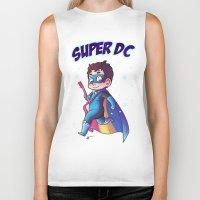 dc comics Biker Tanks featuring Super DC by Sunshunes