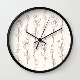 Two branches of Soul flower pattern Wall Clock