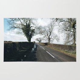winter road in Derbyshire Rug