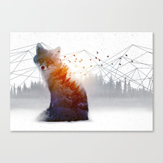 A Wilderness Within / Fox Canvas Print