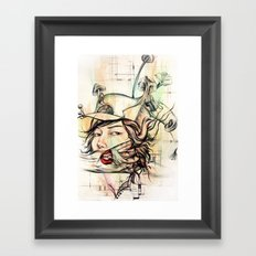 crossword anxiety Framed Art Print