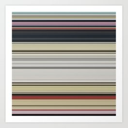 Modern Warm Color Stripes Art Print