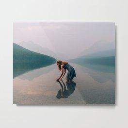 The Looking Glass // Bowman Lake Metal Print