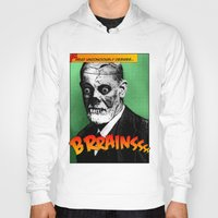 freud Hoodies featuring Zombie Freud by Ms Moirai