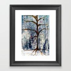 Forest Tree in Winter Framed Art Print