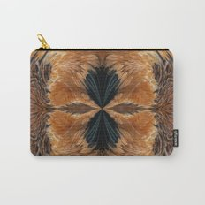 Brown Chicken Feathers Abstract Pattern Carry-All Pouch