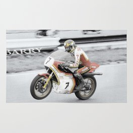 Barry Sheene 2, the hand tinted version Rug