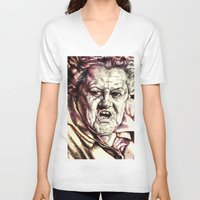 large V-neck T-shirts featuring Large Marge by Aaron Bir