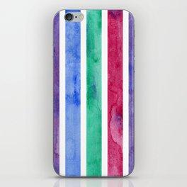 Peacock Stripes iPhone Skin
