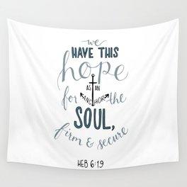 Hebrews 6:19 Wall Tapestry