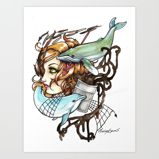 Our Oceans Art Print