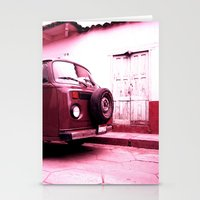 vw bus Stationery Cards featuring VW Bus 17B by Julia Aufschnaiter