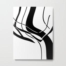 Organic No. 7 Black & White Graphic Art #minimalism #decor #society6 Metal Print