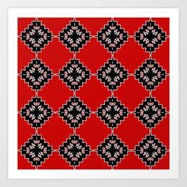 Native ethnic pattern Art Print