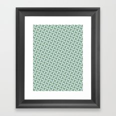 Mint Leaf Pattern Framed Art Print