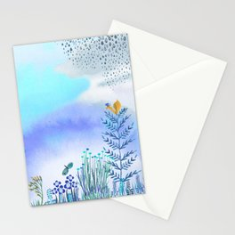 Blue Garden II Stationery Cards