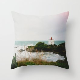 Film photo of the lighthouse at Bluff, NZ Throw Pillow