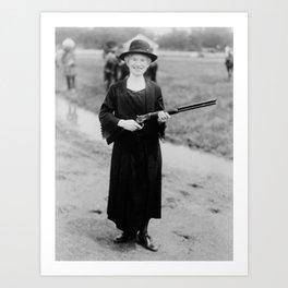 Annie Oakley Holding Rifle - 1922 Art Print