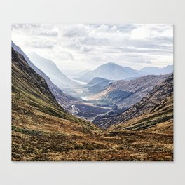 View of Glen Etive from Glencoe, Scotland Canvas Print