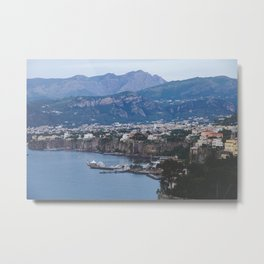 Sorrento Italy, Amalfi Coast, Cityscape at Dusk Metal Print