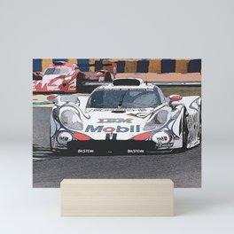 GT1 at Le Mans Mini Art Print