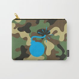 CAMO & LIGHT BLUE BOMB DIGGITY Carry-All Pouch