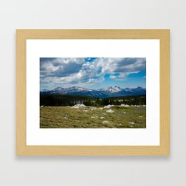 Mountain View From Tuolumne Meadows Framed Art Print