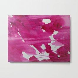 Pink Splatters Metal Print