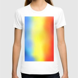 Flag of romania 7 - with cloudy colors T-shirt