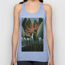 Birds of Paradise : Temple of Flora Unisex Tank Top