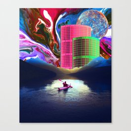 """Follow the Lights, They Lead to Something"" Canvas Print"