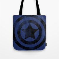 steve rogers Tote Bags featuring Steve Rogers 008 by TheTreasure