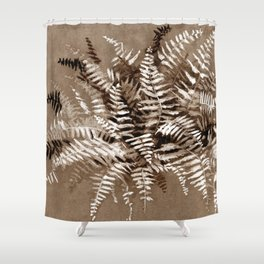 Fern in brown scale Shower Curtain