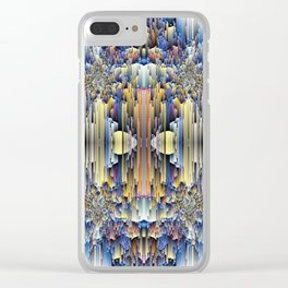 abstract rain 6 Clear iPhone Case